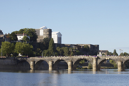 Angers, river Maine & chateau
